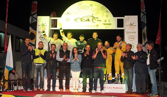 Ceremonia de llegada del 39 Rallye Orvecame Isla de Lanzarote